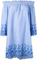 P.A.R.O.S.H. striped off-shoulders shift dress - women - Cotton/Polyamide/Spandex/Elastane/Polyester - XS