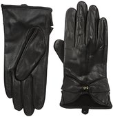 Ted Baker Women's Lynna Large Bow Leather Gloves