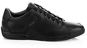 HUGO BOSS Men's Saturn Leather Low-Top Sneakers