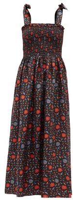 Muzungu Sisters - May Halcyon-print Silk-faille Dress - Black Print