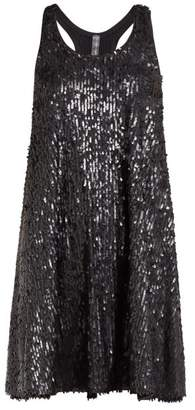 Norma Kamali Sequinned Flared Mini Dress - Womens - Black