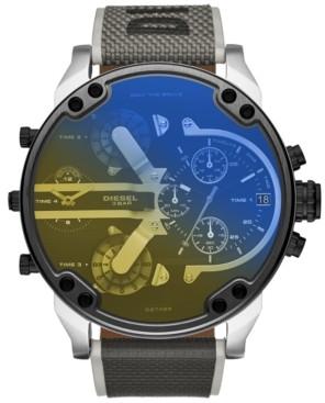 Diesel Men's Chronograph Mr. Daddy 2.0 Gray Nylon Strap Watch 57mm