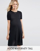 Asos TALL Swing Dress With Short Sleeve