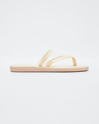 Ancient Greek Sandals Metallic Flip-Flop Sandals