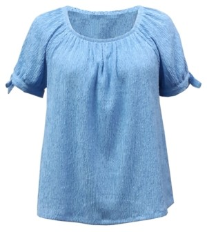 Style&Co. Style & Co Petite Convertible Tie-Sleeve Top, Created for Macy's