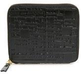 Comme des Garcons Men's Comme De Garcons Embossed French Wallet - Black