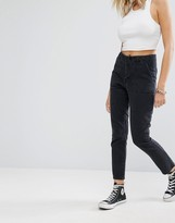 Noisy May Crop Loose Jeans with Flat Pocket Detail