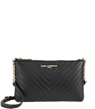 Karl Lagerfeld Paris Charlotte Leather Shoulder Bag