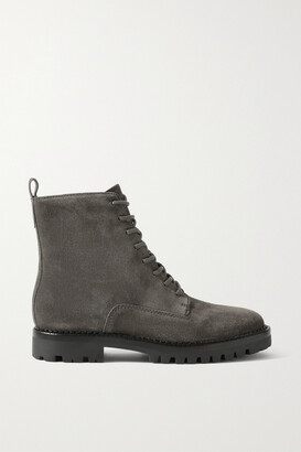 Vince Cabria Suede Ankle Boots - Gray