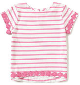 Joules Little Girls 3-6 Bonnie Striped Lace-Trim Top