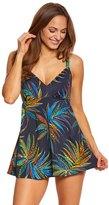 Penbrooke Tropical Fiesta VNeck Swimdress - 8150425