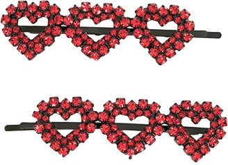 Ashley Williams Heart Applique Hair Pin
