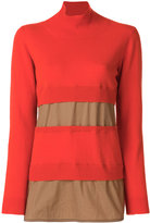 Marni turtle neck sweater - women - Cotton/Cashmere/Virgin Wool - 38