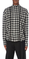 Haider Ackermann Checked Wool And Cotton-blend Shirt