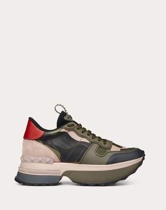Valentino Garavani Rockrunner.up Sneaker Women Military Green 100% Pelle Di Vitello - Bos Taurus 35