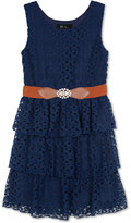 Amy Byer Tiered Lace Dress, Big Girls (7-16)