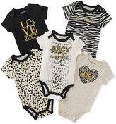 Juicy Couture Black Zebra 'Love Juicy' Five-Piece Bodysuit Set - Infant