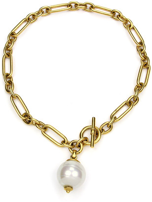 Ben-Amun Pearly Chain-Link Short Necklace