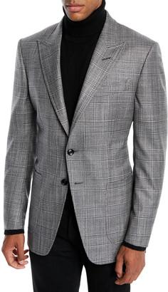 Tom Ford Men's O'Connor Wool-Silk Prince of Wales Plaid Blazer Jacket