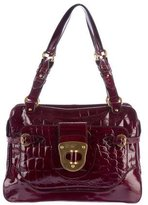 Alexander McQueen Embossed Patent Leather Bag