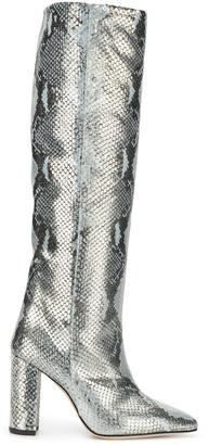 Paris Texas snake-effect tall boots