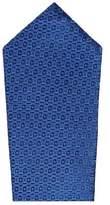 MANGO Geometric patterned silk tie
