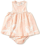 Jessica Simpson Baby Girls 12-24 Months Watercolor-Floral-Printed Fit-and-Flare Dress