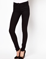 ASOS Supersoft High Waisted Black Ultra Skinny Jeans