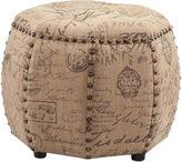 Asstd National Brand Julia Octagon Tufted Ottoman