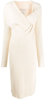 Bottega Veneta Knitted Draped Front Dress