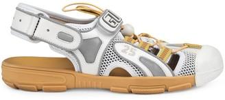 Gucci Mesh Drawstring Flat Sandals
