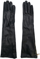 Moschino long zipped gloves