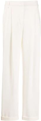Emporio Armani High Rise Straight Leg Trousers