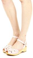 Swedish Hasbeens Ornament Clog Sandals