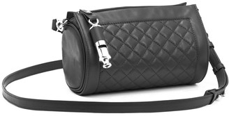 Leigh Ann Barnes Gamechanger Barrel Clear Crossbody Bag, Black