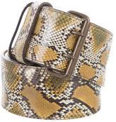Lanvin Wide Snakeskin Belt
