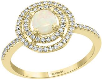 Effy Fine Jewelry 14K 0.67 Ct. Tw. Diamond & Opal Ring