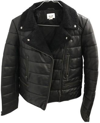 Bel Air Black Leather Coat for Women