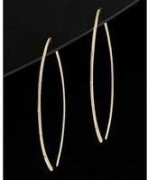 Meira T 14k Diamond Hoop Earrings.