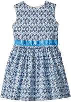 Toobydoo Blue and Aqua Garden Party Dress Girl's Dress