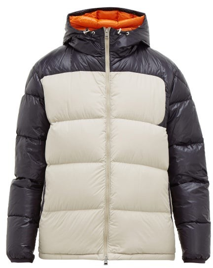 d396b1029 Latour Hooded Quilted Down Jacket - Mens - Beige Navy