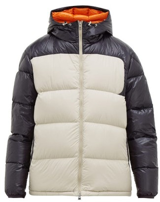 Moncler Latour Hooded Quilted-down Jacket - Beige Navy