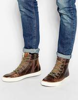 Jack & Jones Monton Leather Boots - Brown