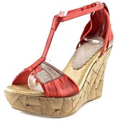 Azura Immix Open Toe Leather Wedge Sandal.