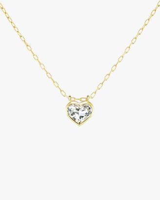 Jane Taylor Large Heart Bezel Pendant Necklace