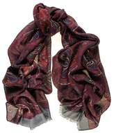 Black Petrella Wool and Silk Scarf