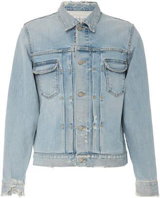 FABRIC BRAND Destiny Distressed Denim Jacket Size: XS