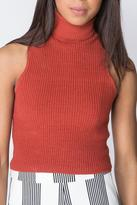 Olivaceous Rust Turtleneck Top