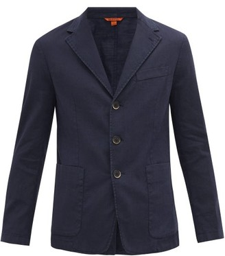 Barena Garment-dyed Linen-blend Twill Blazer - Navy
