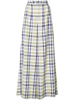 ADAM by Adam Lippes wide leg plaid trousers